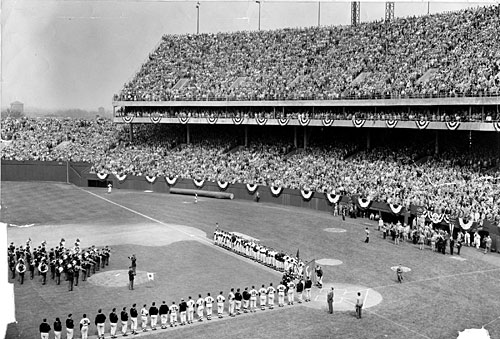 courtesy of the baltimore sun 1954 Orioles Opening Day @ Camden Yards Today