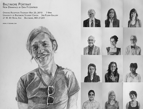 baltimore portrait opening ub postcard Baltimore Portrait: New Drawings by Erin Fitzpatrick @ UB Tonight