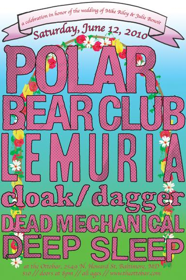 mike riley1 Polar Bear Club, Lemuria +3 More @ Ottobar Tonight