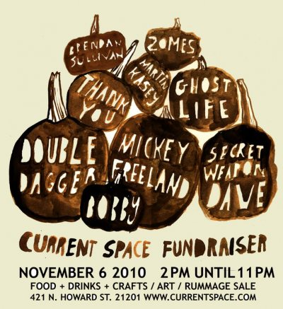 current gallery fundraiser poster Fundraiser Show to Benefit Current Gallery Today