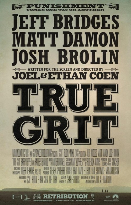 true grit poster 535x836 The Chop Goes to The Movies