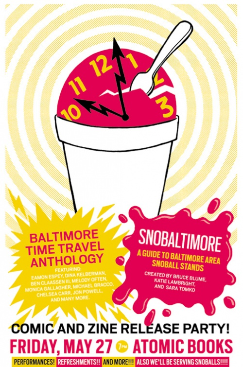 baltimore snoballs SnoBaltimore Zine Release @ Atomic Books Tonight