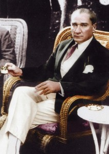 This is Ataturk. Ataturk is EVERYWHERE. He's like George Washington, Mickey Mantle, and Justin Bieber combined.