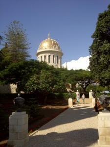 Shrine of the Bab. Holiest site of the Baha'i faith. You can google that.