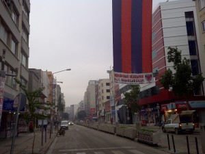 A view of one of the main boulevards.