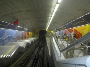 The Carmelit is the world's shortest subway line. It is entirely underground and climbs over 900 feet on its 6-stop route. It is fascinating.