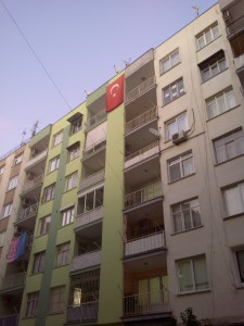A typical Turkish apartment bloc. there are thousands of these that look almost identical.
