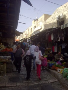 One of the bazaar streets of the Old City.