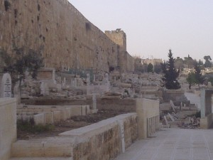 Palestinian cemetary behind Al Aqsa Mosque.