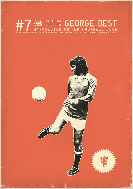 vintage poster of Manchester United's George Best