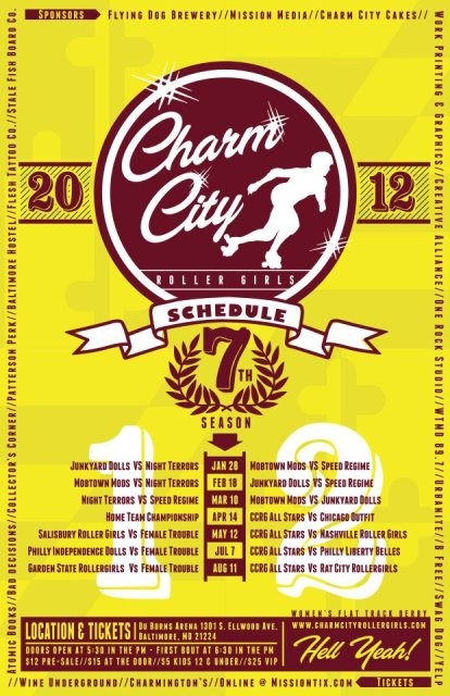 ccrgnews Charm City Roller Girls @ Du Burns Arena Tomorrow