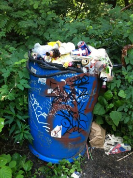 Trashcan overflowing