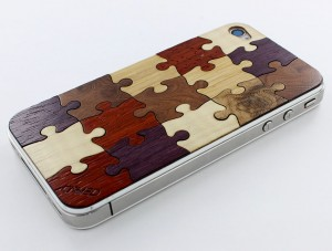 puzzle iphoneskin Carveds Natural Wood iPhone Skins: The Chop Approves