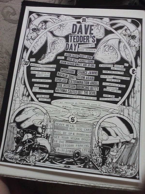 tedder4 e1340387011392 Dave Tedders Memorial @ 2640 Space/Ottobar Today