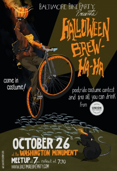 halloween poster e1351117383525 Baltimore Bike Party Halloween Brew Ha Ha Tonight