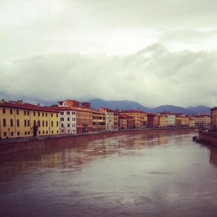 Arno river, Pisa, Italy.