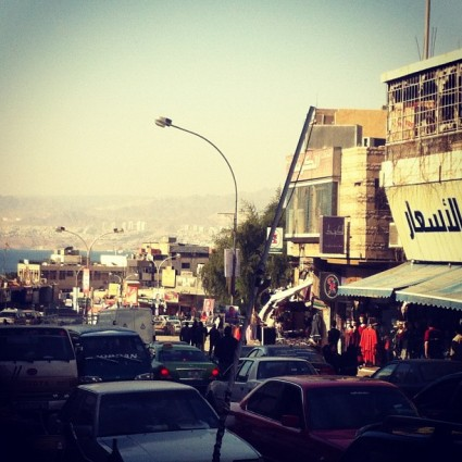 A street scene in Aqaba, Jordan. New year's day 2013.