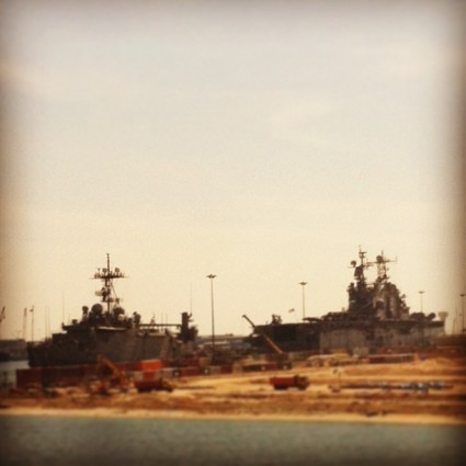 US navy ships in Dubai.