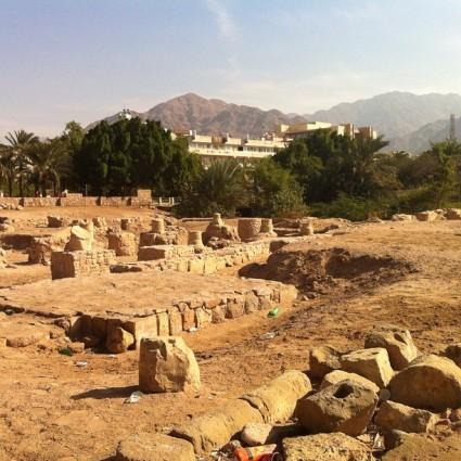 Ruins of the ancient city of Ayla in Jordan.