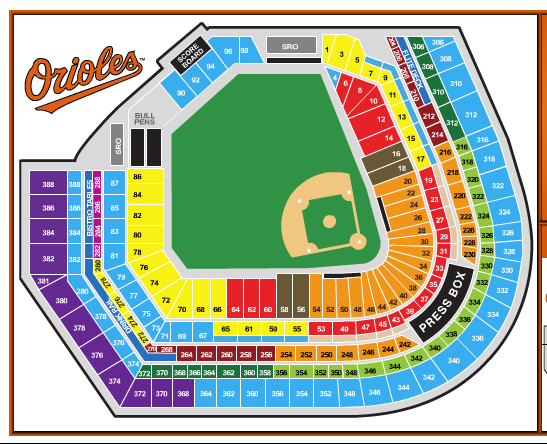 Oriole Park Seating Chart Oriole Park At Camden Yards