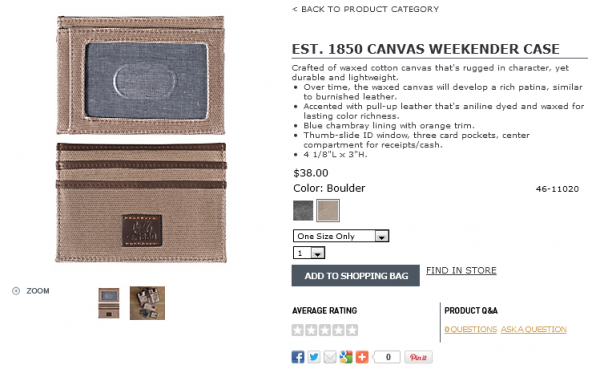CANVAS WEEKENDER CASE Boulder
