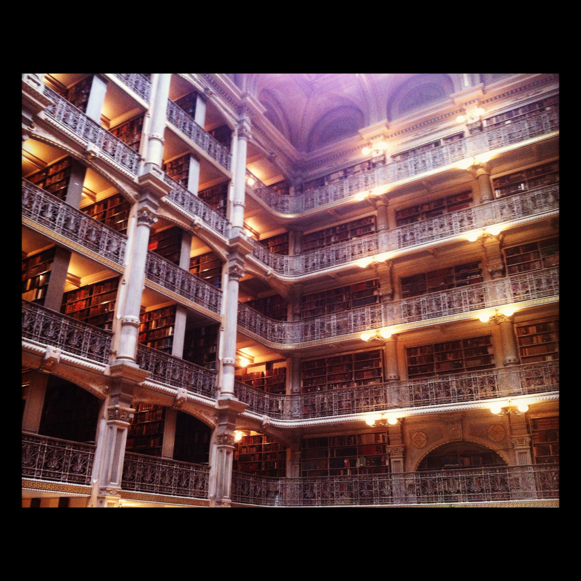 The chance to gawk at the Peabody library is always a highlight of the BBF.