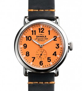 Oriole orange. Just in time for the playoffs. This and feature image: shinola website