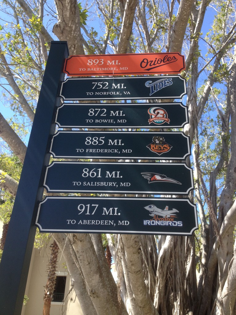 The road to Camden Yards is a long one.