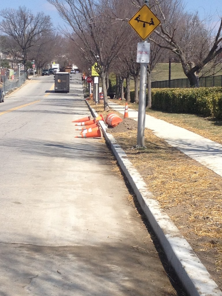 More cone clutter on Ellerslie Ave.