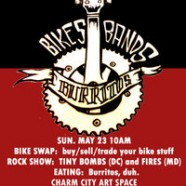 Bikes, Bands and Burritos @ Charm City Art Space Today